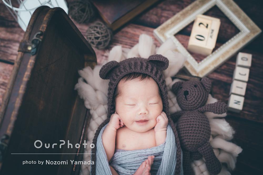 「家族写真も撮ってもらえていい思い出になり」ニューボーンフォトの撮影