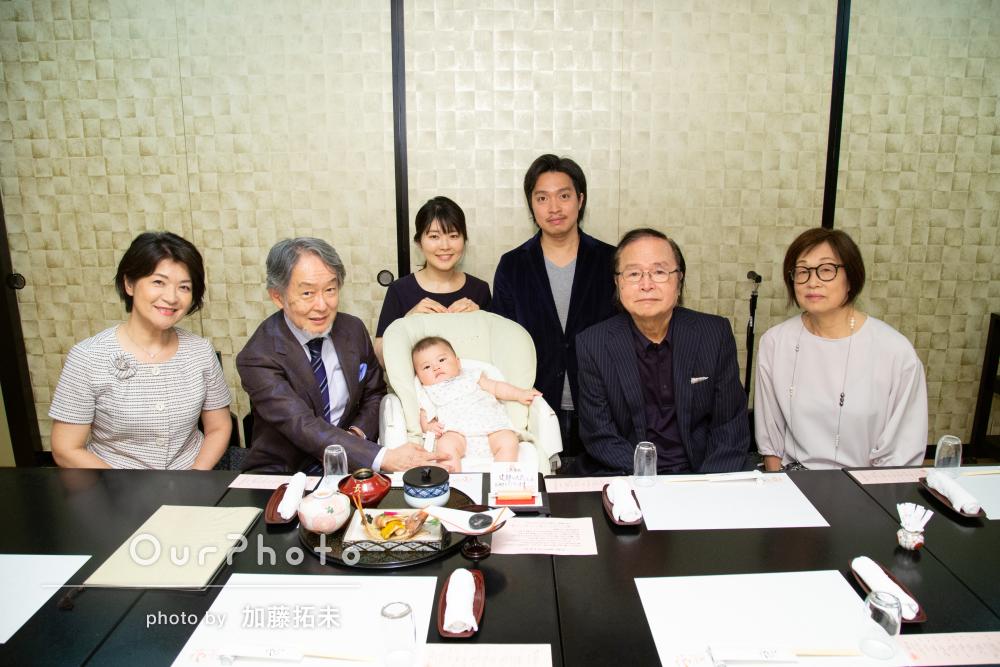 「とても素敵な写真を撮ってくださいました」家族写真の撮影