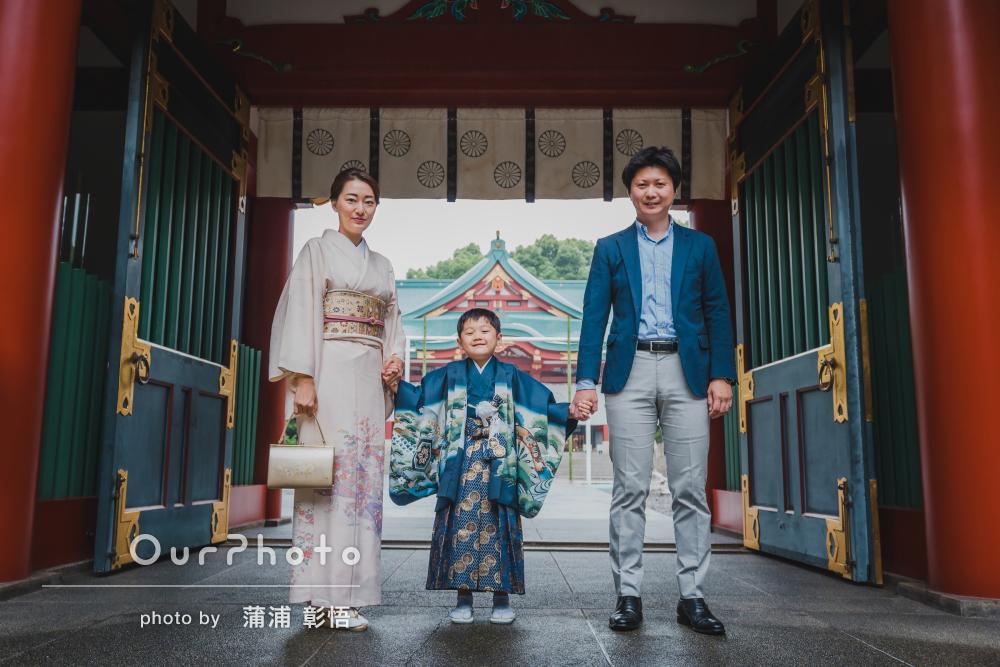 「子供の笑顔を引き出してくれました」羽織袴でかっこいい七五三の撮影