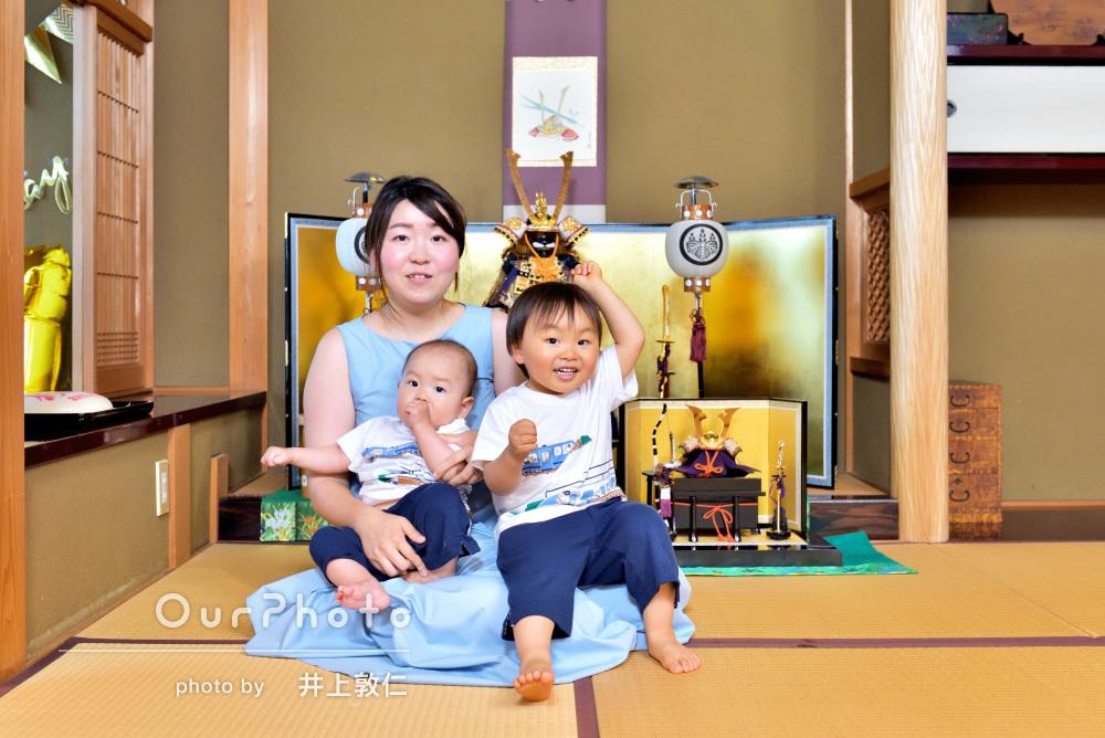「たくさん撮ってくれました」端午の節句と誕生日の記念に家族写真の撮影