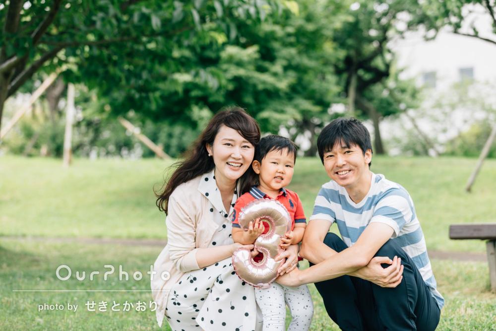 「息子も大変リラックスして、楽しんで撮影でき」家族写真の撮影