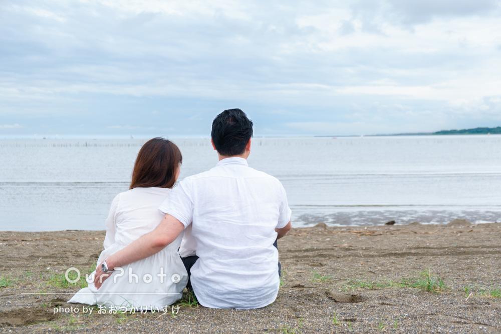 「柔軟に対応いただき」リラックスした笑顔がステキ!海岸でご家族の撮影