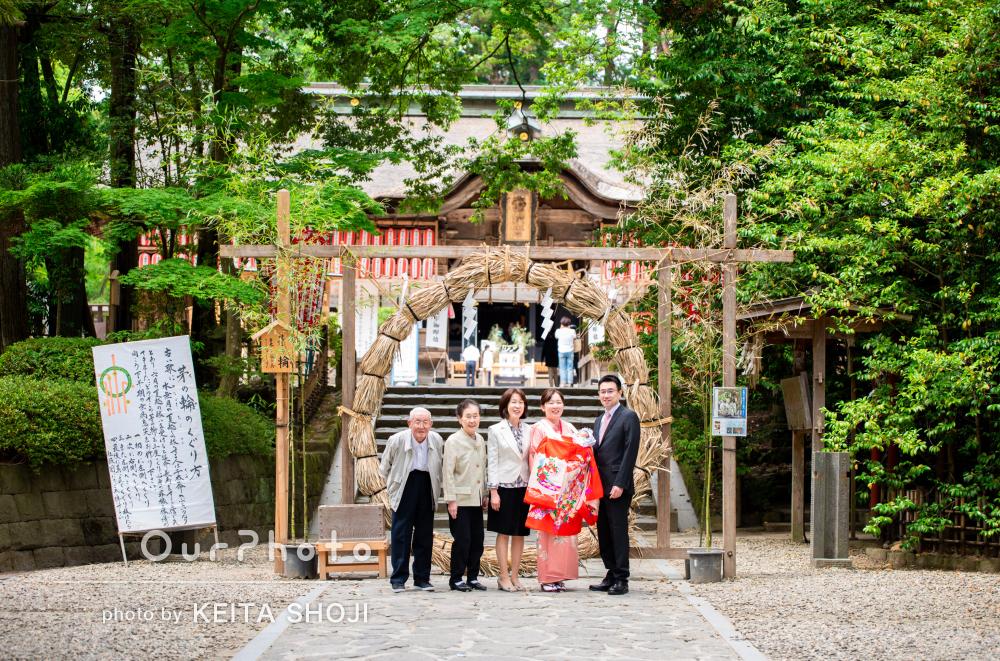 「写真も本当に綺麗で、家族全員のお気に入り」お宮参りの撮影