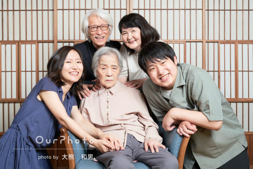 「とても素敵な写真と時間でした」家族の温もりを感じる写真撮影