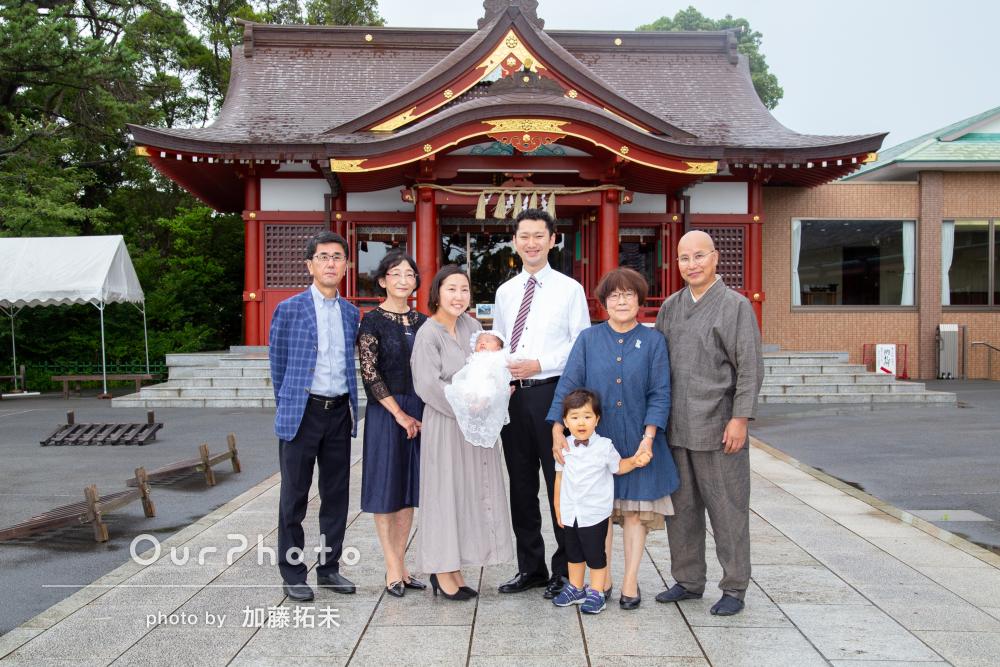 「細かい配慮もしていただきました」お宮参りを兼ねた家族写真の撮影