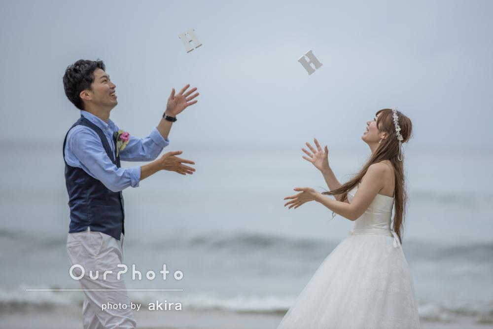 「とても楽しい撮影になりました!」浜辺のウェディングフォト撮影
