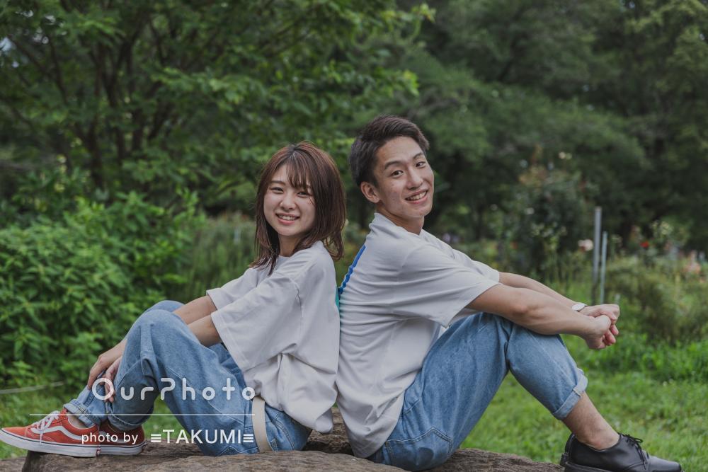 「終始リラックスして普段通りの私たち」自然な笑顔でカップルフォト撮影