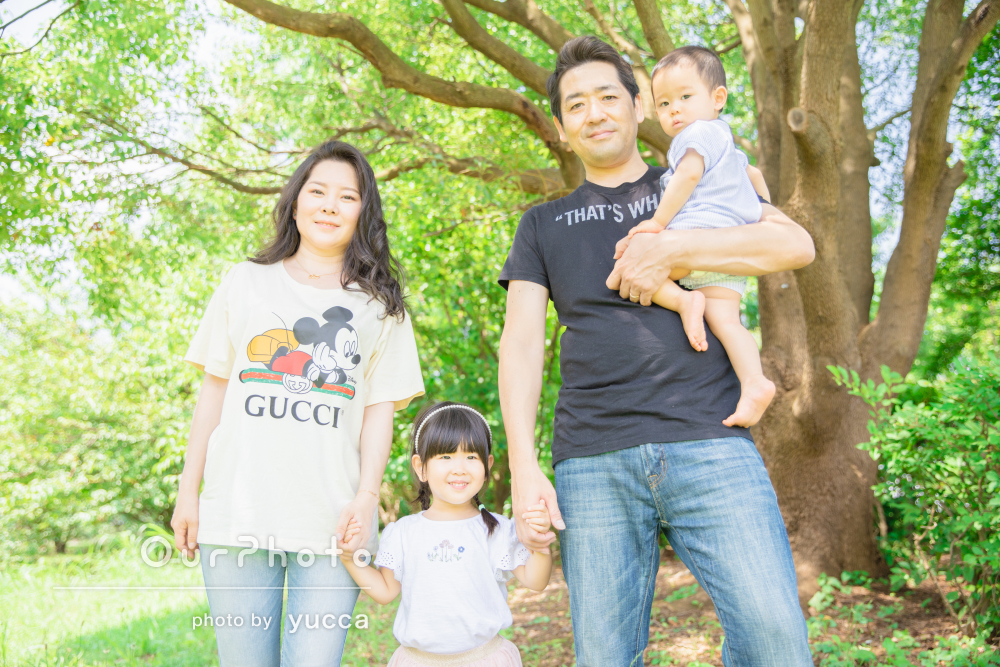 「子供達と遊びながらの撮影がとても楽しかった」家族写真の撮影