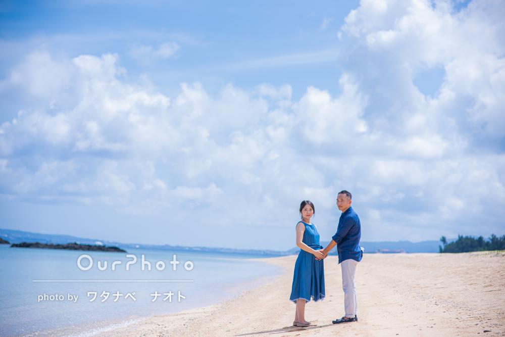 「夫婦ともに大変満足しています」沖縄のビーチでマタニティフォトの撮影