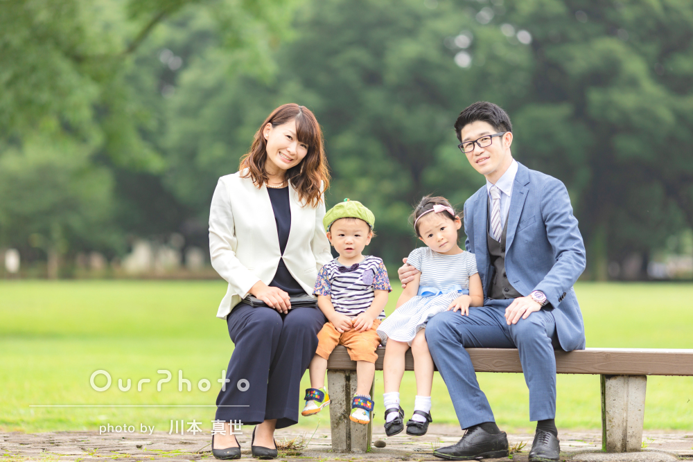 「満面の笑顔の写真を撮ることができました」家族写真の撮影