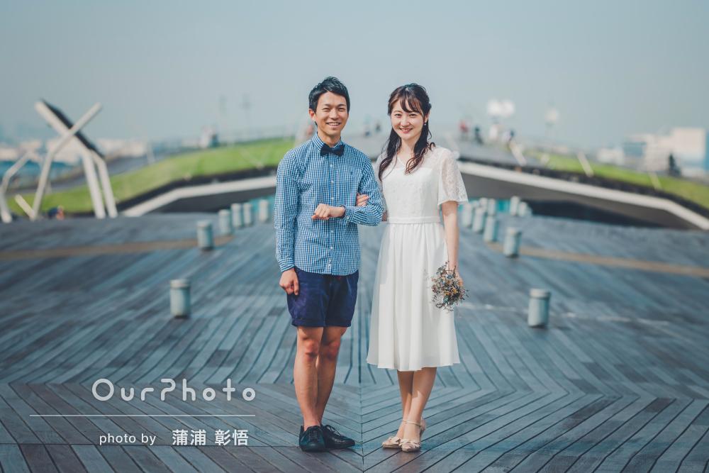 「合ってすぐに打ち解けられた」潮風の薫る街でカップルの結婚式前撮り