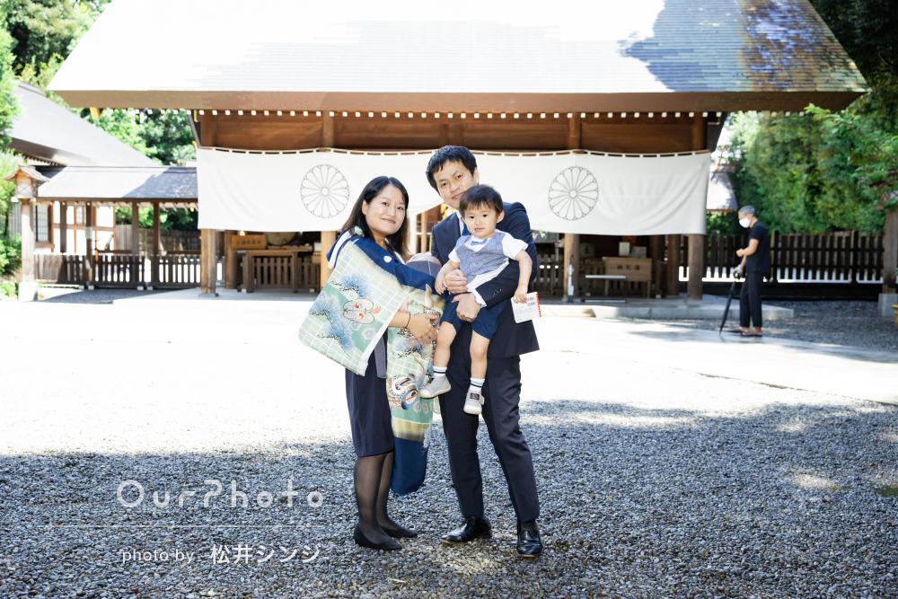 「神社の撮影スポットや子どもの扱い、終始安心」お宮参りの撮影