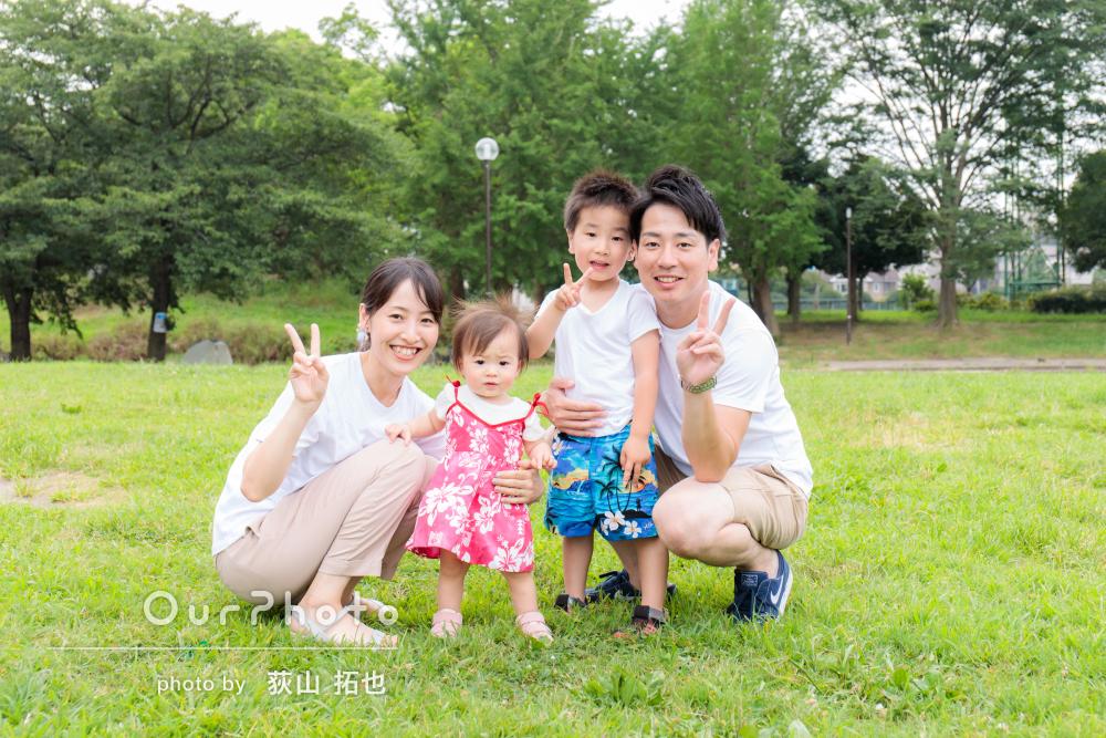「色々なシュチュエーションで撮影してくださり」幸せな家族写真の撮影