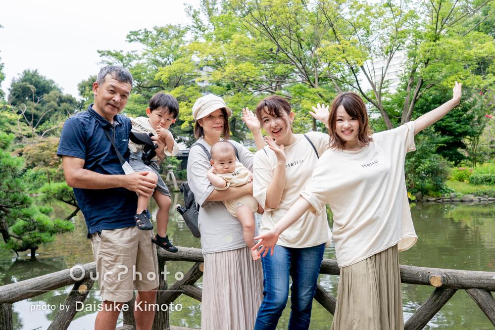 「とても安心した楽しい時間でした!」還暦記念の家族写真撮影
