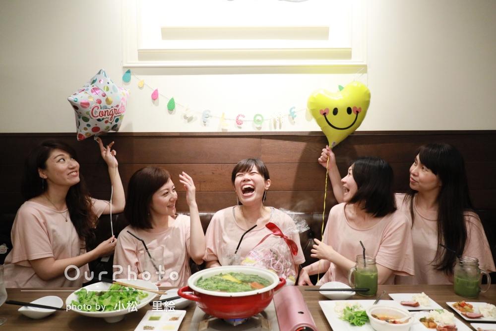 「いい体験が出来ましたし、友人も喜んでくれました。」女友達でランチ会!ベビーシャワー風のパーティ写真の撮影