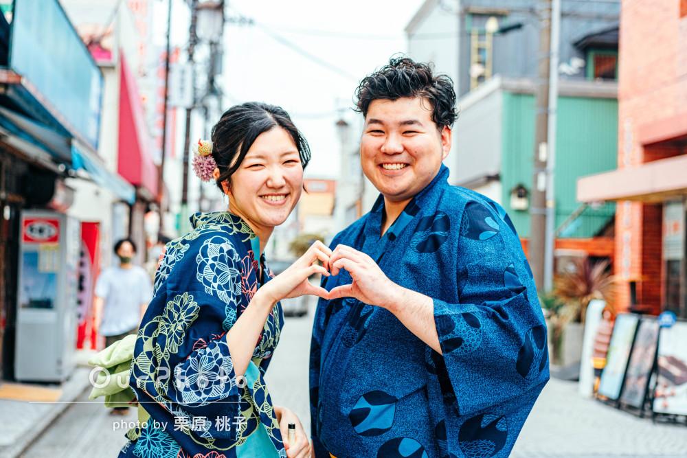 「楽しく撮影ができました」仲睦まじい街歩きカップルフォトの撮影