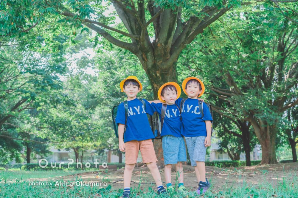 「子供たちの自然な姿をたくさん」仲良し3人の躍動感溢れる友フォト撮影