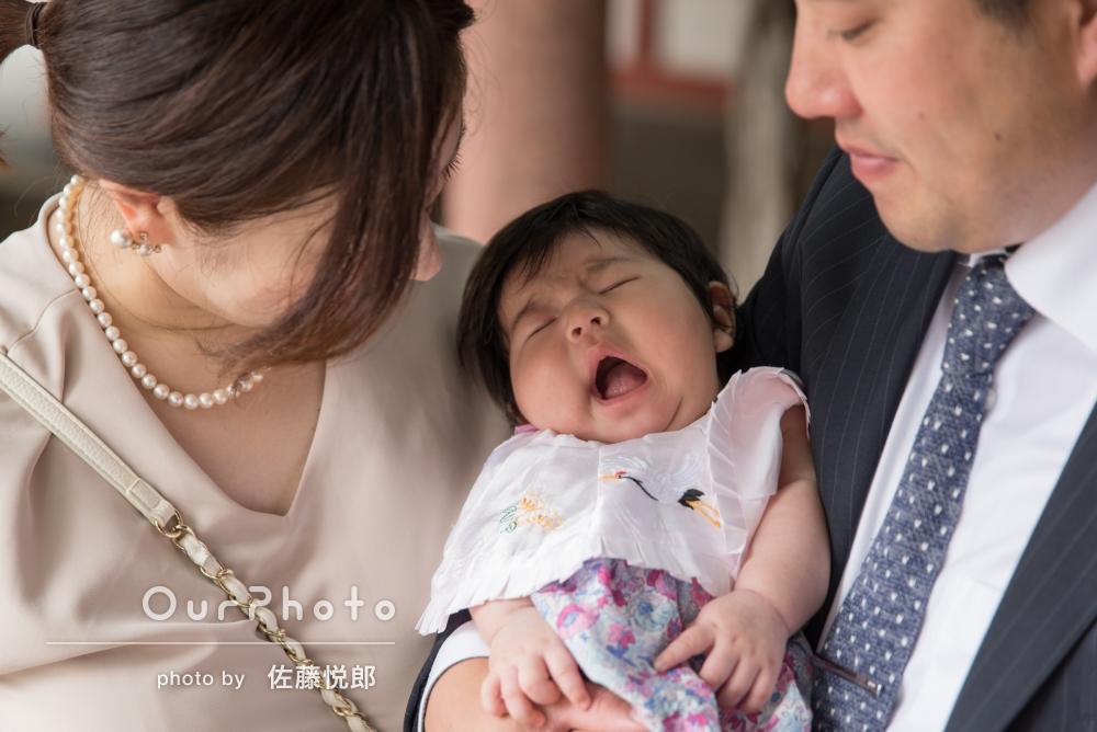 「仕上がった写真も、とてもきれいで構図も良く、娘の特別な日を残すことができました。」お宮参りの撮影