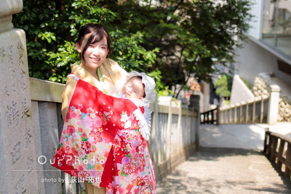 「とてもいい思い出になりました!」赤の産着が映えるお宮参り写真の撮影