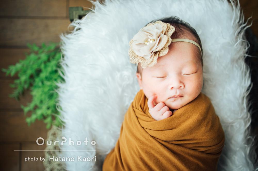 赤ちゃんの愛らしさをギュっと詰め込んで自宅でニューボーンフォトの撮影