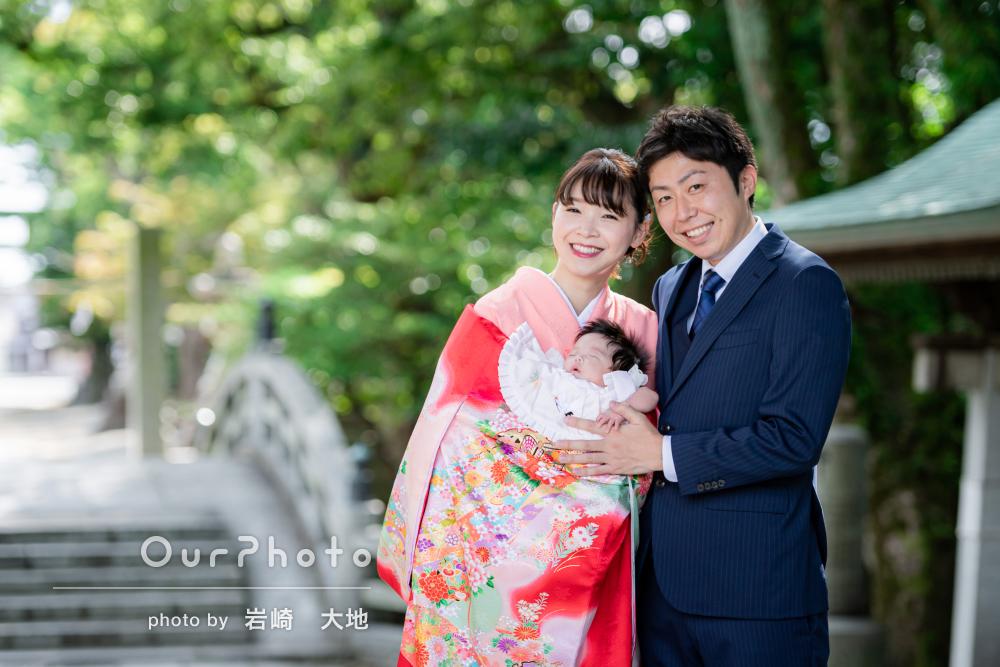 「写真ももちろん素敵」スヤスヤ眠る赤ちゃんを笑顔が囲むお宮参りの撮影
