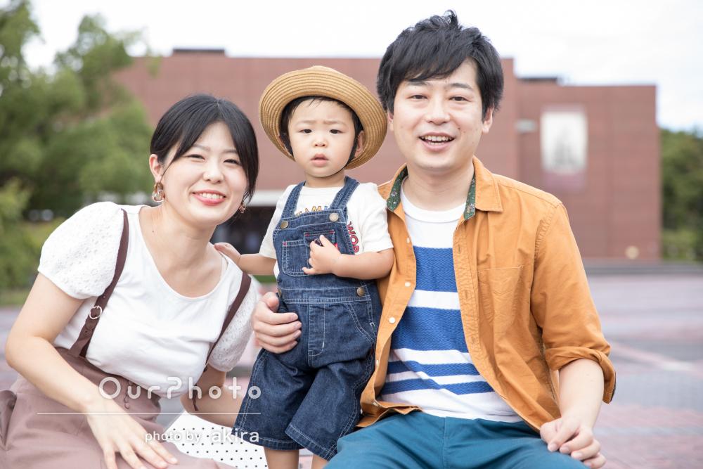 「息子の成長記録として毎年撮影したい」初めての出張撮影で家族写真