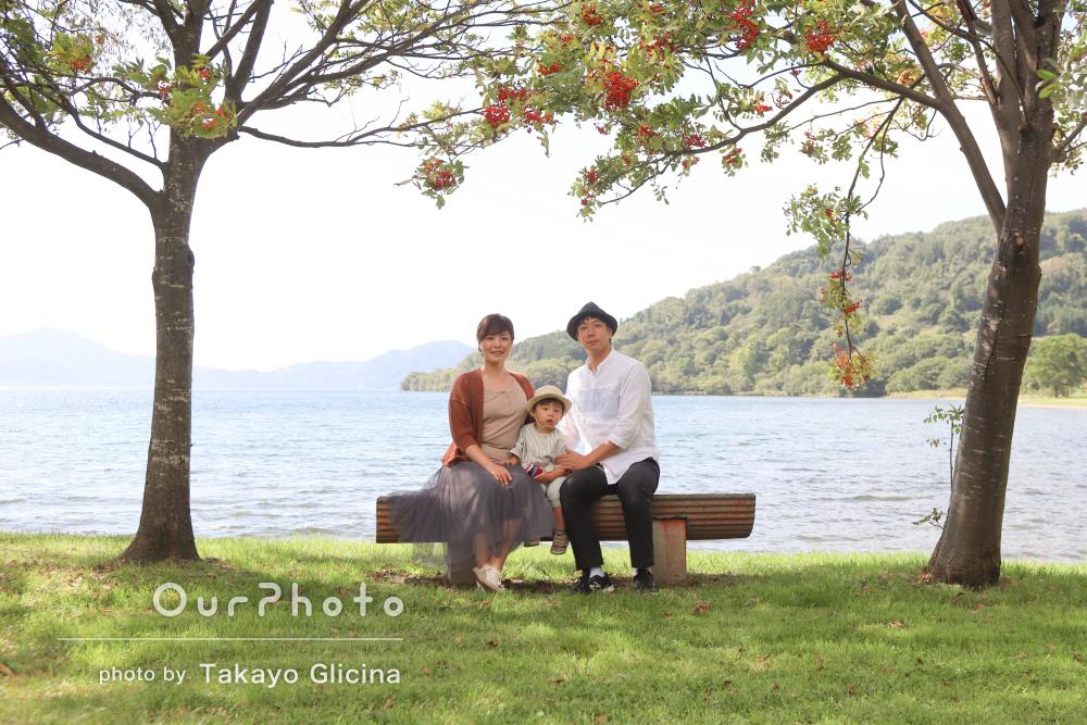 「アドバイスしてもらえて」色々なポーズにもチャレンジ!家族写真の撮影