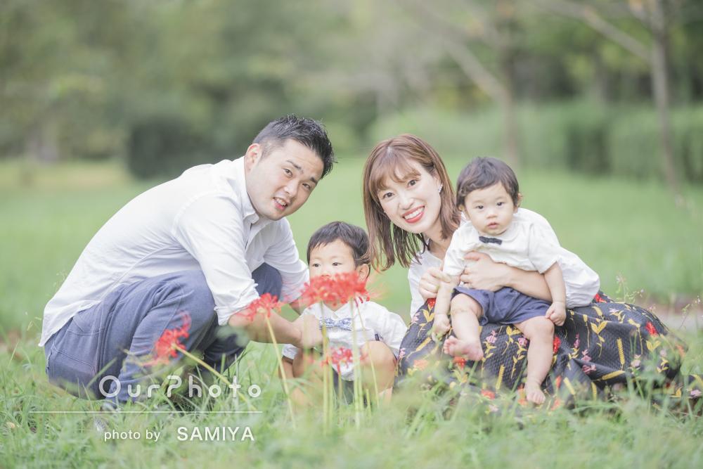 「たくさん色々なスポットでの撮影を提案して」家族写真の撮影