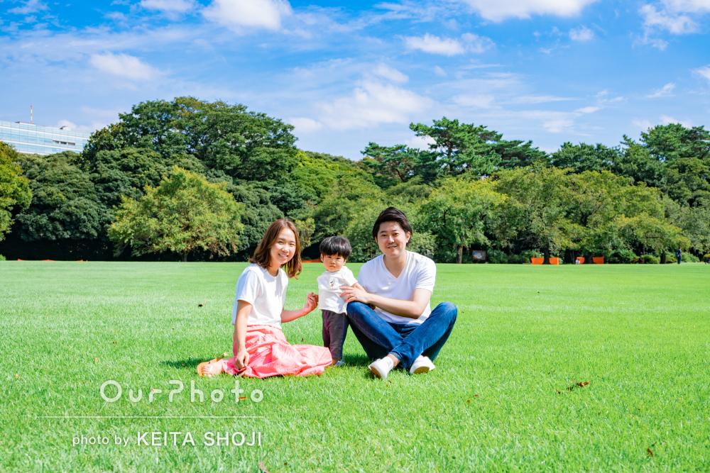 「自然な表情を引き出してくれてとても素敵な写真になり」家族写真の撮影