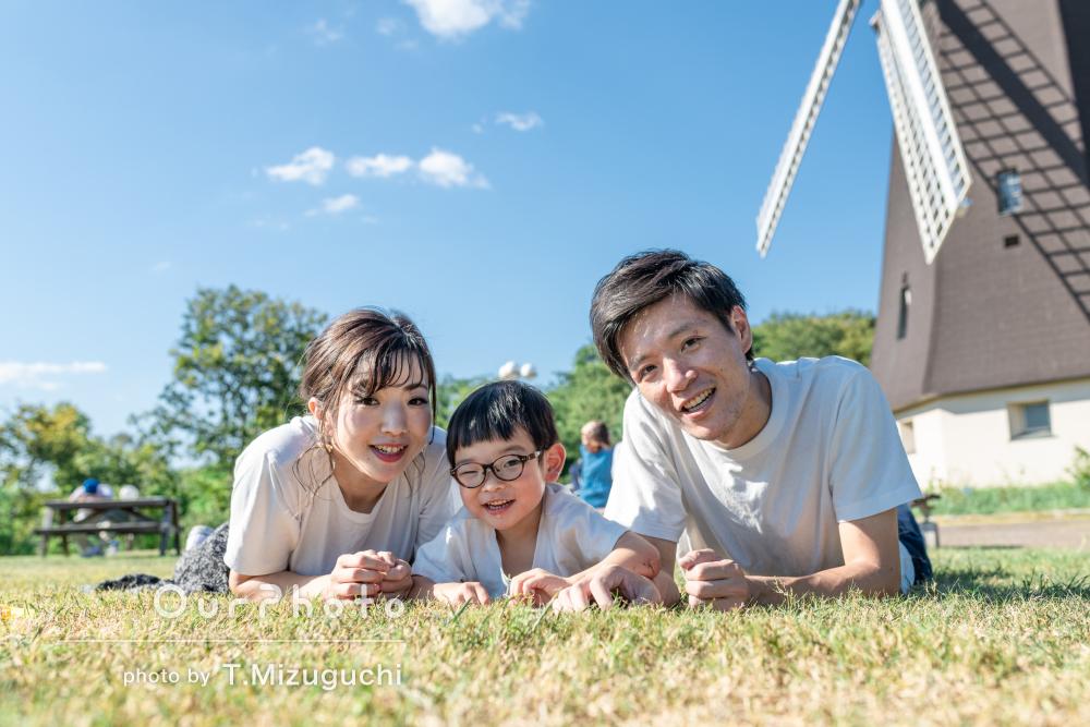 「素敵な写真が撮れました」4歳のバースデー記念の家族写真撮影