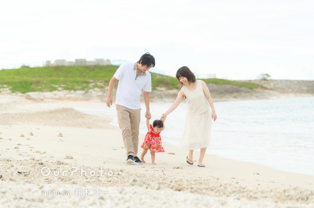 「終始和やかな雰囲気」沖縄の海で素敵な思い出!家族写真の撮影