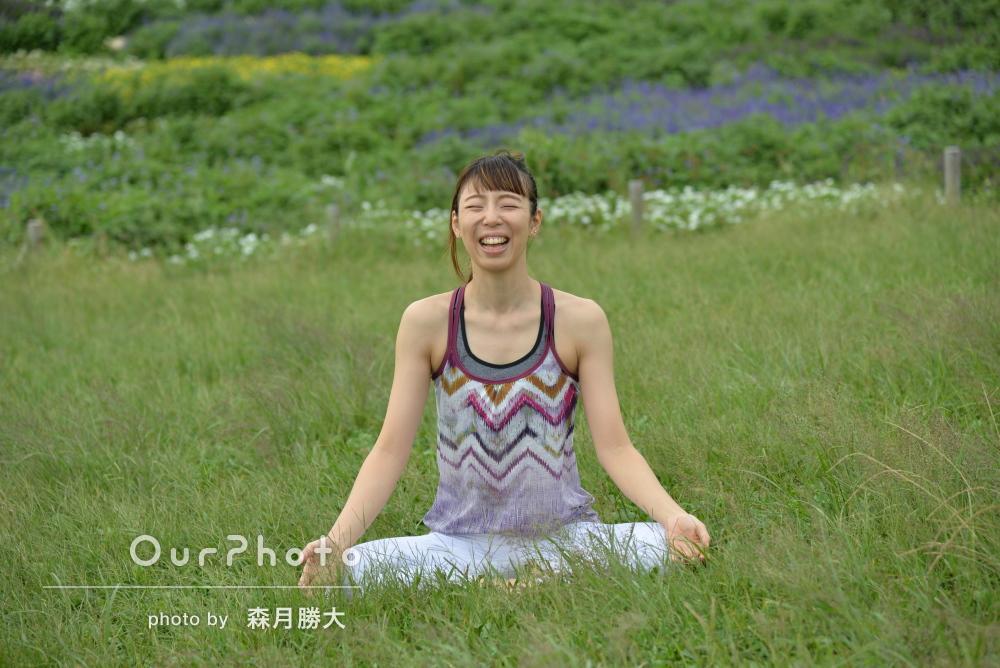 「一瞬の表情を形にしてくれる」ヨガ姿のプロフィール写真の撮影