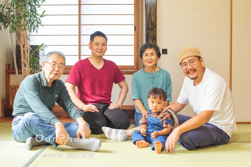 「光をたくさん吸い込んだ素敵な写真を納品いただき」家族写真の撮影