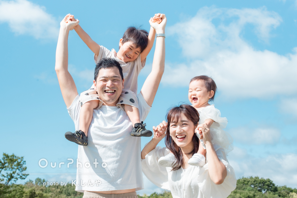 「あたたかい雰囲気でどれもとっても素敵で、宝物」家族写真の撮影