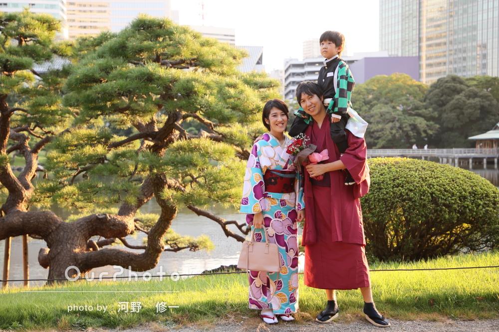 「思い出作りの観点からも様々なご提案を頂き」和装姿で家族写真の撮影