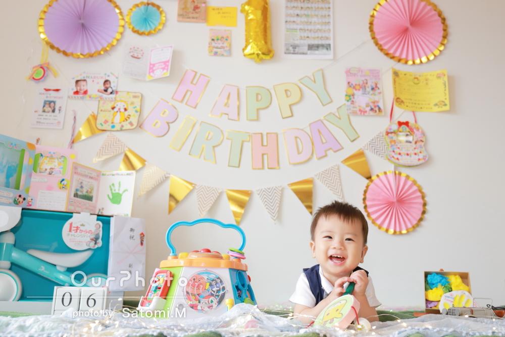 「どれも可愛すぎて家族みんなで興奮」1歳の誕生日記念に家族写真の撮影