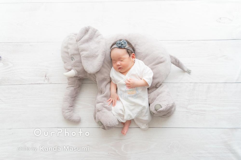 「赤ちゃん優先で進めてくださって」ニューボーンフォトの撮影