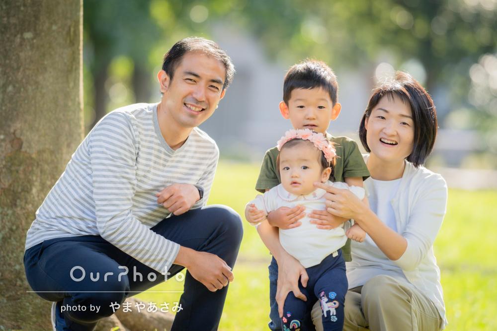 「息子も懐いて自然ないい表情」1歳の誕生日記念に家族写真の撮影