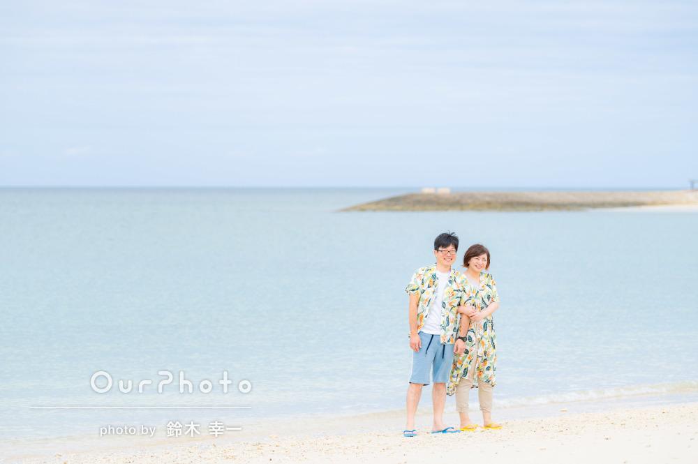 「本当に楽しい時間でした!」美しい海でカップル写真の撮影