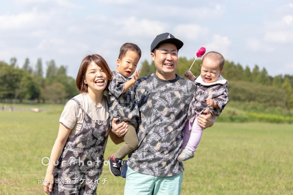 「とてもキレイなお写真を撮っていただきとても満足」家族写真の撮影
