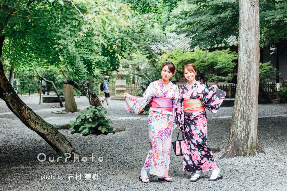 「カメラ撮影をお願いするのは初めてでしたが、優しく丁寧な方でとても良かったです。」鎌倉旅行でのフレンズフォトの撮影