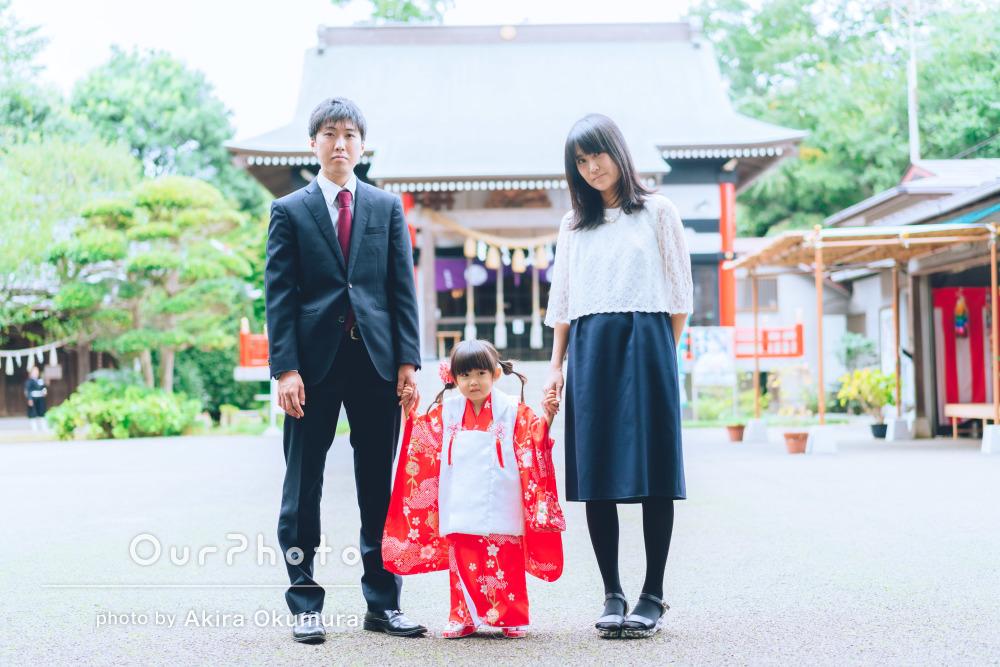 「家族3人の写真も沢山」好みの写真がいっぱいで満足な七五三の撮影