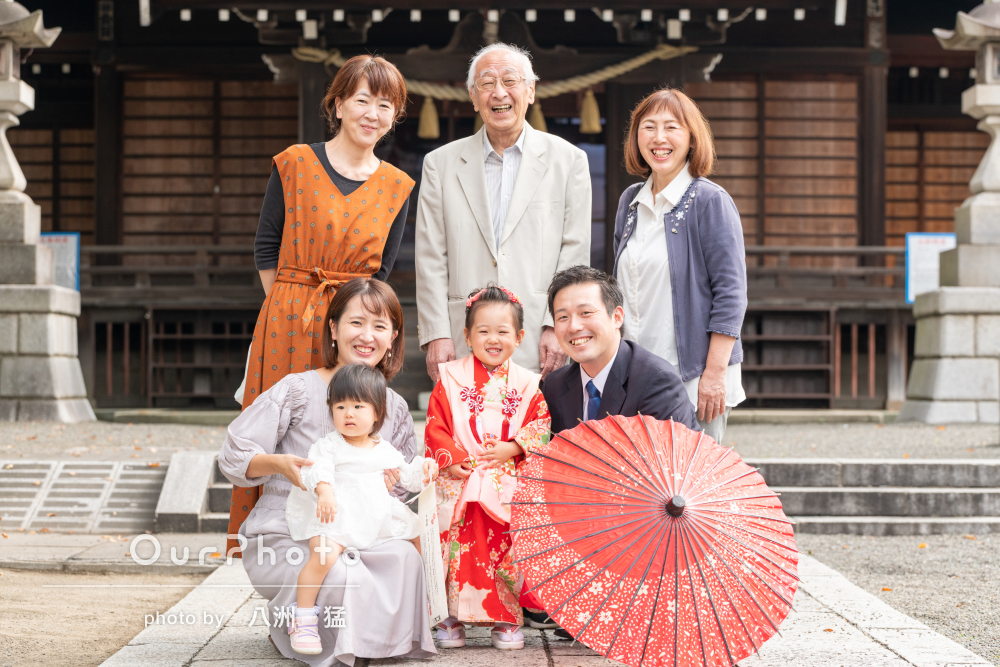 「自然な笑顔が写った家族みんなでの写真も一生の宝物」七五三写真の撮影