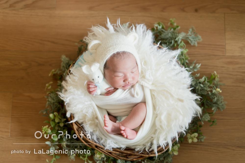赤ちゃんの可愛らしさを最大限にいかしたニューボーンフォトの撮影