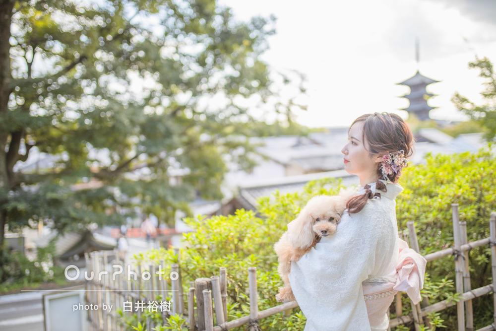 「ふわふわで可愛く撮れているものばかりで大満足」京都での旅行写真撮影