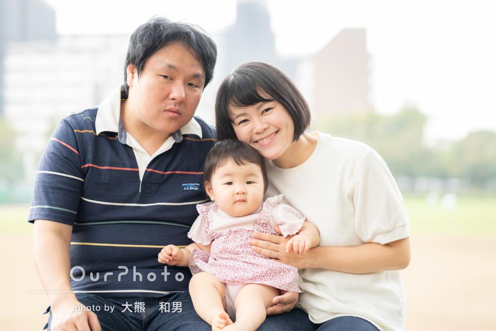「どれも素敵に撮れていてうれしい」1歳の誕生日記念に家族写真の撮影