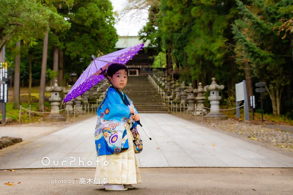 「楽しい雰囲気で撮影できました」歴史ある神社で3歳の七五三の撮影