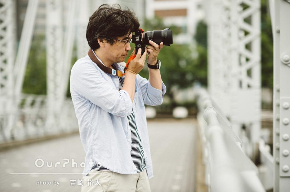 「撮られるのは慣れてない自分ですが、楽しい雰囲気で撮影していただきました。」プロフィールの撮影