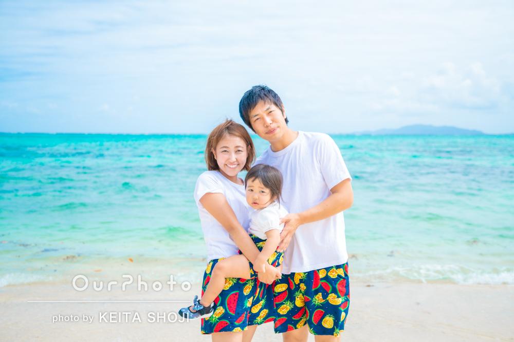 「2歳の誕生日のとても良い記念」沖縄で笑顔いっぱい!家族写真の撮影