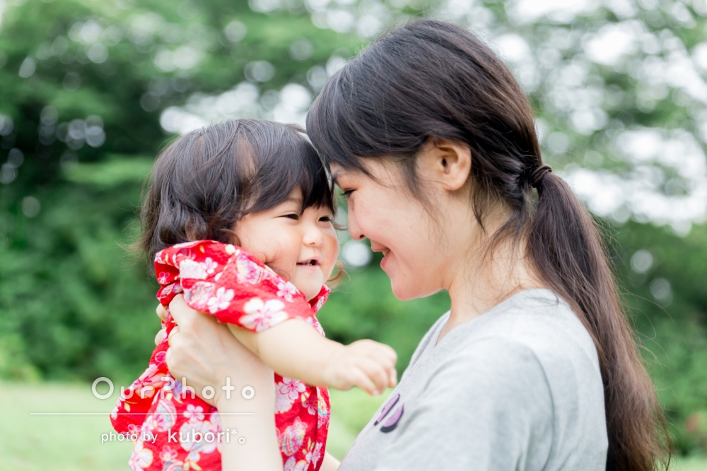 「人見知りの娘もとっても楽しそうにしてくれていたので、非常に嬉しかったです。」1歳のお誕生日の撮影